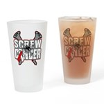 Screw Oral Cancer Drinking Glass