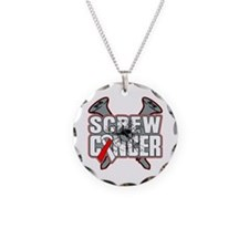 Screw Oral Cancer Necklace