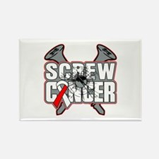 Screw Oral Cancer Rectangle Magnet