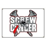 Screw Oral Cancer Banner