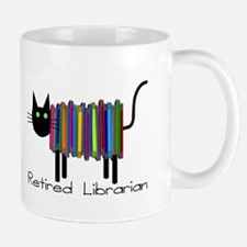 Retired Librarian Book Cat.PNG Mug