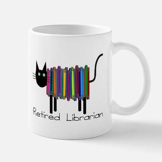 Retired Librarian Book Cat.PNG Mug