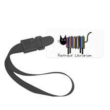 Retired Librarian Book Cat.PNG Luggage Tag