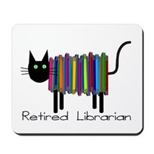 Retired Librarian Book Cat.PNG Mousepad