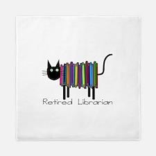 Retired Librarian Book Cat.PNG Queen Duvet