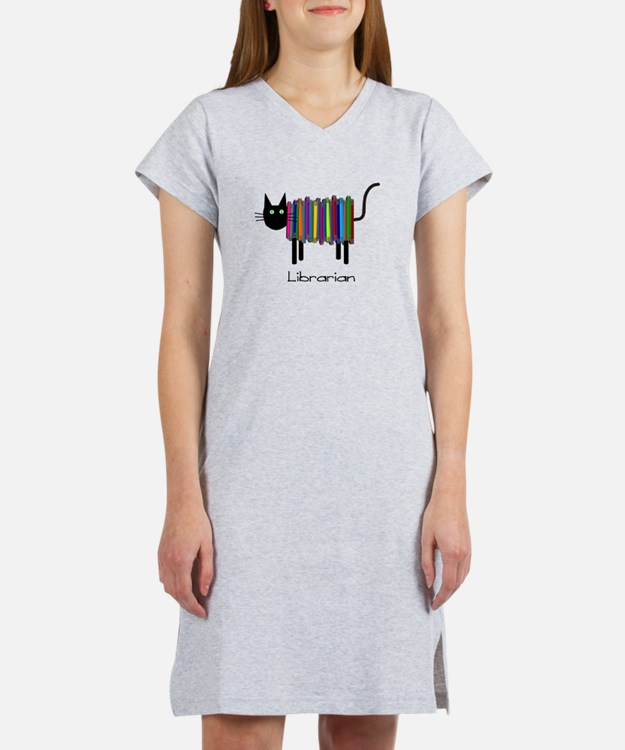 Librarian Book Cat.PNG Women's Nightshirt