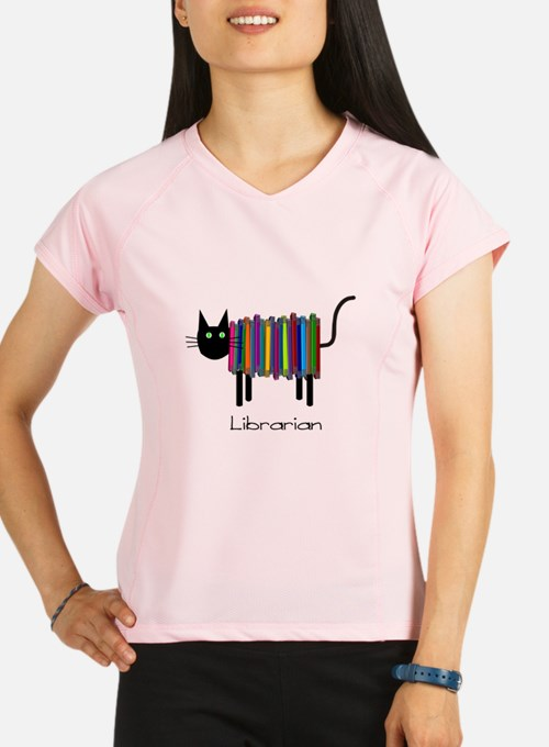 Librarian Book Cat.PNG Performance Dry T-Shirt