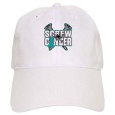 Screw Ovarian Cancer Baseball Cap
