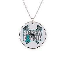 Screw Ovarian Cancer Necklace