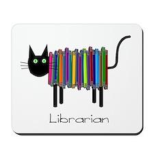 Librarian Book Cat.PNG Mousepad