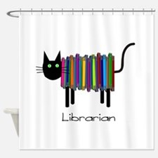 Librarian Book Cat.PNG Shower Curtain