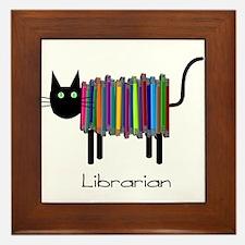 Librarian Book Cat.PNG Framed Tile