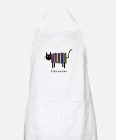 Librarian Book Cat.PNG Apron