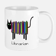 Librarian Book Cat.PNG Mug