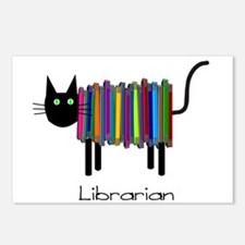 Librarian Book Cat.PNG Postcards (Package of 8)