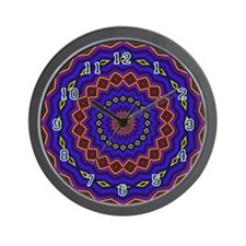 Southwest Wall Clock - Purple & Burgundy