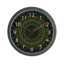 Southwest Wall Clock - Hunter Green, Brown & G