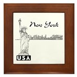 New York Framed Tile