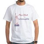 New York White T-Shirt