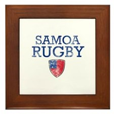 Samoa Rugby designs Framed Tile