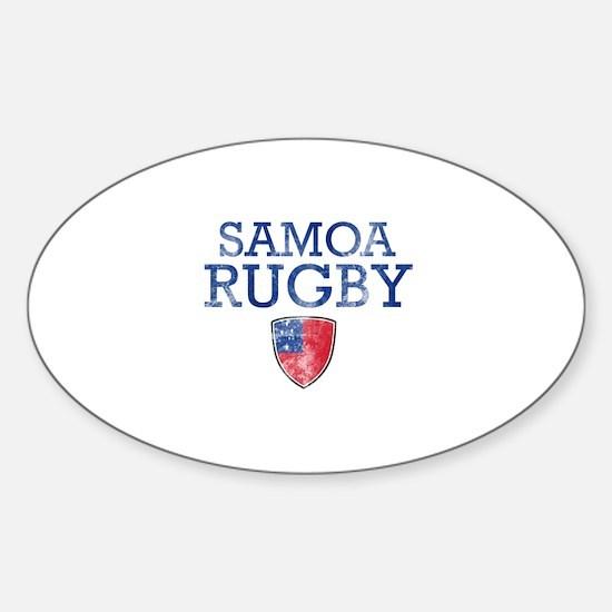 Samoa Rugby designs Sticker (Oval)