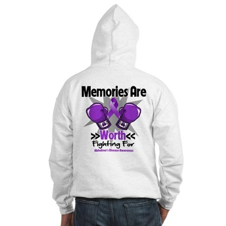 Alzheimers Memories Fight Hooded Sweatshirt