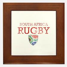 South Africa Rugby designs Framed Tile