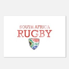 South Africa Rugby designs Postcards (Package of 8