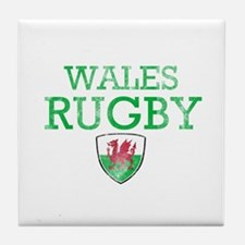 Wales Rugby designs Tile Coaster