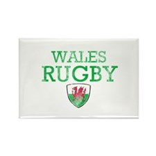 Wales Rugby designs Rectangle Magnet (10 pack)