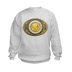 Indian gold oval 1 Sweatshirt