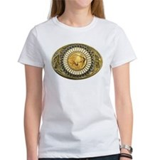 Indian gold oval 1 Tee
