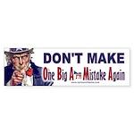 One Big Ass Mistake Again Sticker (Bumper 10 pk)
