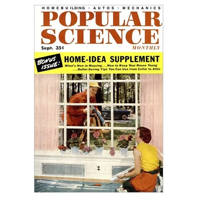 Popular Science Cover, September 1954 Poster