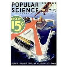 Popular Science Cover, September 1932 Poster