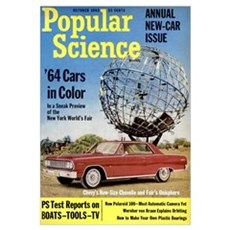 Popular Science Cover, October 1963 Canvas Art