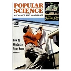 Popular Science Cover, October 1951 Poster