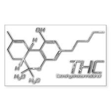 THC Molecule Smoke for dark materials Decal