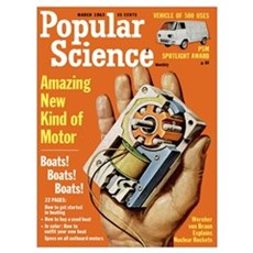 Popular Science Cover, March 1963 Canvas Art