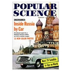 Popular Science Cover, March 1958 Poster