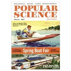 Popular Science Cover, March 1956 Poster