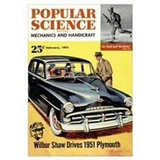 Popular Science Cover, March 1951 Poster