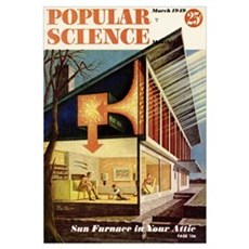 Popular Science Cover, March 1949 Framed Print