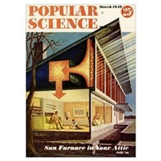 Popular Science Cover, March 1949 Poster