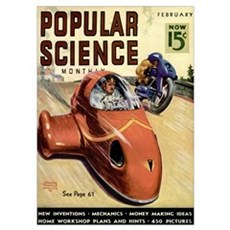 Popular Science Cover, March 1938 Poster