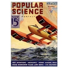 Popular Science Cover, March 1934 Poster