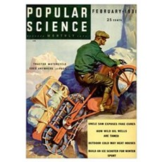 Popular Science Cover, March 1931 Poster