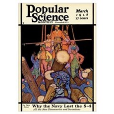 Popular Science Cover, March 1928 Poster