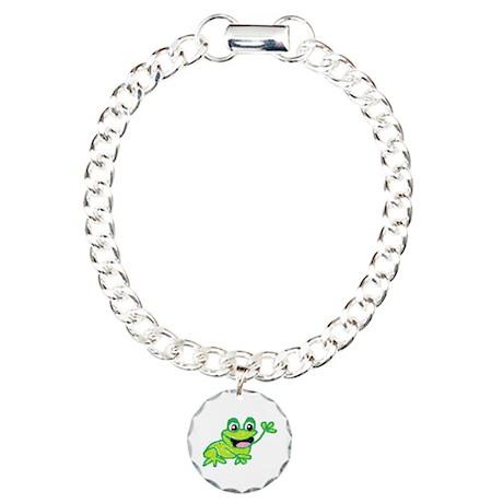 Happy Frog Charm Bracelet, One Charm