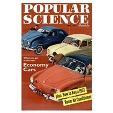 Popular Science Cover, June 1957 Poster